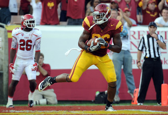 USC Freshman TE Xavier Grimble had 6 receptions for 67 yards and 1 TD vs. Utah Utes