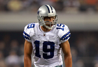 ARLINGTON, TX - AUGUST 11:  Miles Austin #19 of the Dallas Cowboys at Cowboys Stadium on August 11, 2011 in Arlington, Texas.  (Photo by Ronald Martinez/Getty Images)