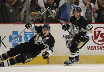 Malkin and Kennedy showed excellent chemistry Saturday. Is there a chance Malkin could reach 100 points and Kennedy 30 goals if they remain on a line?