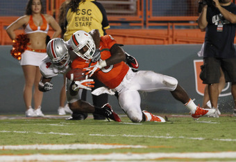 Lamar Miller's 188 rushing yards were a big reason why the Hurricanes found success against Ohio State's defense.