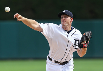 DETROIT, MI - SEPTEMBER 10:  Starting pitcher Max Scherzer #37 of the Detroit Tigers throws the baseball against the Minnesota Twins during a MLB game at Comerica Park on September 10, 2011 in Detroit, Michigan.  (Photo by Dave Reginek/Getty Images)