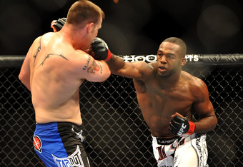 Jon Jones beating up on Jake O'Brien