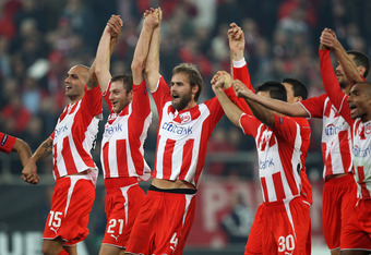 The last time Arsenal faced Olympiacos Piraeus, the Gunners were 1-0 losers at Karaiskaki Stadium