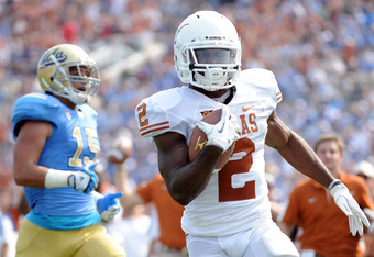 Texas trounced UCLA, 49-20, in what could be a Pac-16 matchup a year or two down the road.