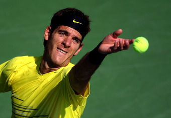 NEW YORK, NY - SEPTEMBER 02:  Juan Martin Del Potro of Argentina serves against  Diego Junqueira of Argentina during Day Five of the 2011 US Open at the USTA Billie Jean King National Tennis Center on September 2, 2011 in the Flushing neighborhood of the