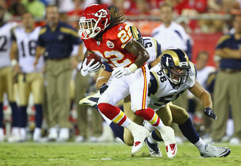 Dexter McCluster, one of the running backs now competing for playing time, is known for his speed and athletic ability.