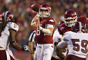 Tyler Wilson looks to snap Alabama's wining streak over the Hogs.