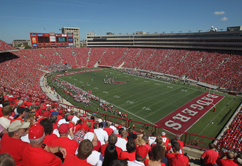 MADISON, WI - SEPTEMBER 10:  A general view of Camp Randall Stadium as the Wisconsin Badgers take on the Oregon State Beavers at on September 10, 2011 in Madison Wisconsin. Wisconsin defeated Oregon State 35-0.  (Photo by Jonathan Daniel/Getty Images)