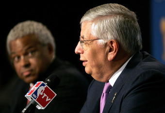 Billy Hunter and Commissioner David Stern