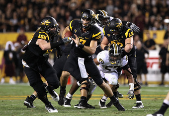 The Sun Devils have had a hard time keeping defenders out the backfield. The constant penalties haven't helped either.