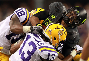 It was Duck Gumbo in Dallas as LSU trounced Oregon, 40-27.