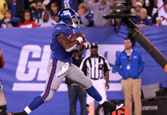 New York Giants RB Brandon Jacobs