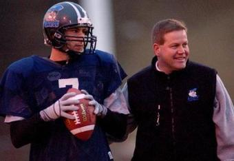 Brian Kelly preparing for a national championship game while coaching at Grand Valley State (Photo: gvsulakers.com)