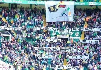 Celtic fans protest