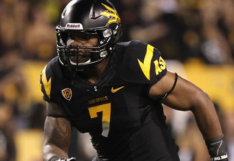 TEMPE, AZ - SEPTEMBER 09:  Linebacker Vontaze Burfict #7 of the Arizona State Sun Devils in action during the college football game against the Missouri Tigers at Sun Devil Stadium on September 9, 2011 in Tempe, Arizona. The Sun Devils defeated the Tigers