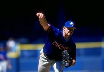 12 Jul 1998: Pitcher Roger Clemens #21 of the Toronto Blue Jays in action during a game against the Detroit Tigers at Tiger Stadium in Detroit, Michigan. The Blue Jays defeated the Tigers 7-2.