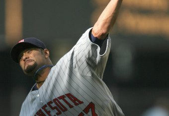 SEATTLE - APRIL 19: Starting pitcher Johan Santana #57 of the Minnesota Twins pitches against the Seattle Mariners on April 19, 2007 at Safeco Field in Seattle, Washington. (Photo by Otto Greule Jr/Getty Images)