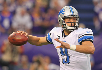 Stafford was 32 of 46 with 2 TD's and 378 passing yards against the Vikings.