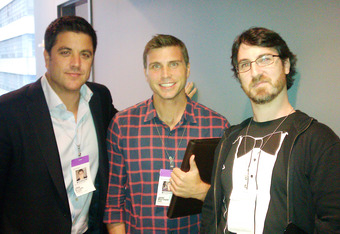 Josh Elliott of ABC's Good Morning America, Jamie Mottram of Yahoo and me, looking snazzy in my award presenting best.