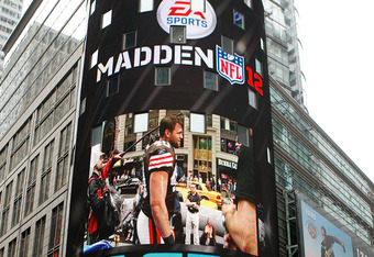 NEW YORK - APRIL 28:  A general view of the EA Sports Madden NFL 12 photo shoot for the cover on April 28, 2011 in Time Square, New York City  (Photo by Mike Stobe/Getty Images for EA Sports)