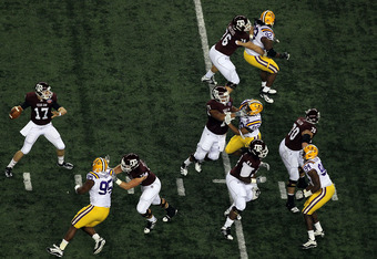 LSU and Texas A&M battle in the 2011 Cotton Bowl.