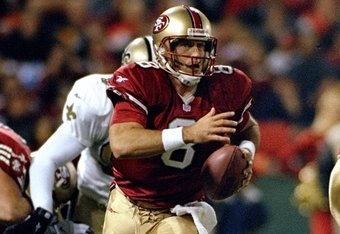 Steve Young was one of the most mobile pocket passers of all-time.