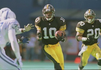 "Kordell ""Slash"" Stewart upped the ante when he helped to keep the Steelers as perennial playoff contenders."