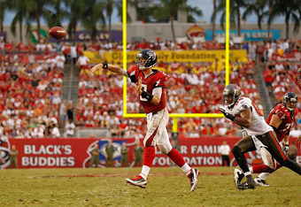 TAMPA, FL - SEPTEMBER 25:  Matt Ryan #2 of the Atlanta Falcons passes during a game against the Tampa Bay Buccaneers  at Raymond James Stadium on September 25, 2011 in Tampa, Florida.  (Photo by Mike Ehrmann/Getty Images)