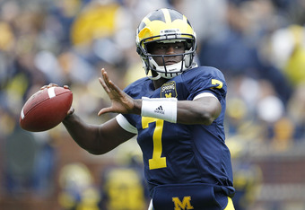 Backup Michigan quarterback Devin Gardner