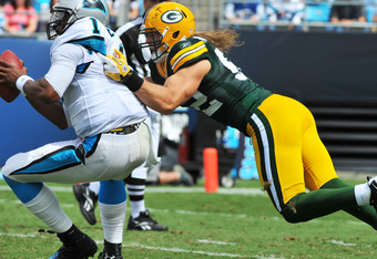 It's a bird!  It's a plane!  Nope, Clay Matthews.