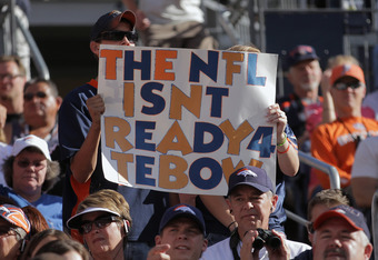 These fans could be right, but Tebow not stepping up doesn't help his case any.