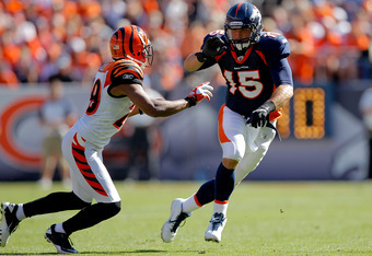 Thus far Tim Tebow has only been a decoy or blocker for the injury riddled Broncos receivers.