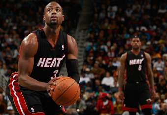 NEW ORLEANS - NOVEMBER 05:  Dwyane Wade #3 and LeBron James #6  of the Miami Heat in action during the game against the New Orleans Hornets at the New Orleans Arena on November 5, 2010 in New Orleans, Louisiana.  NOTE TO USER: User expressly acknowledges