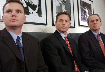 Jed Hoyer ( left) and Ben Cherington ( middle) are introduced and Co- General Managers in 2005