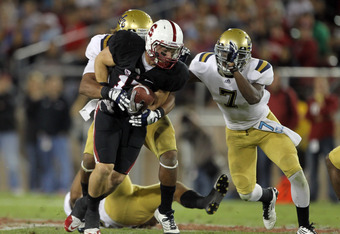 STANFORD, CA - OCTOBER 01:  Griff Whalen #17 of the Stanford Cardinal in action against the UCLA Bruins at Stanford Stadium on October 1, 2011 in Stanford, California.  (Photo by Ezra Shaw/Getty Images)