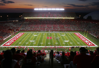 PISCATAWAY, NJ - SEPTEMBER 1: A general view of the High Point Solutions Stadium during the first quarter of a college football game between North Carolina Central Eagles and Rutgers Scarlet Knights on September 1, 2011 in Piscataway, New Jersey. (Photo b
