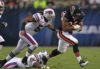 With backup running back Marion Barber healthy, the Bears can concentrate on having a power-running game.