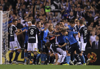 Saturday night was all right for fighting between Melbourne and Sydney.