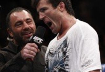 Sonnen calls out Silva (look at Rogan's face)