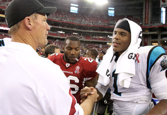 Cam Newton dazzled in his debut against the Arizona Cardinals.
