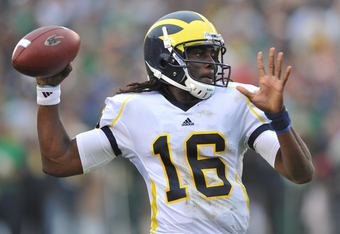 Denard Robinson must eliminate turnovers against Sparty