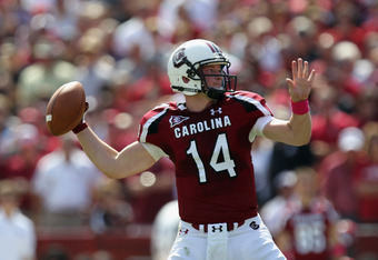 Connor Shaw pass attempt