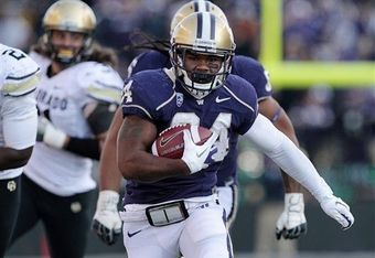 Washington running back Jesse Callier ran for his first touchdown as a Husky against Colorado on October 15, 2011