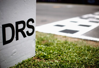 BARCELONA, SPAIN - MAY 22:  DRS activation zone marker is seen before the Spanish Formula One Grand Prix at the Circuit de Catalunya on May 22, 2011 in Barcelona, Spain.  (Photo by Mark Thompson/Getty Images)