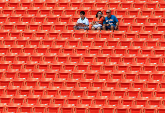 Empthy seats at Sun Life Stadium