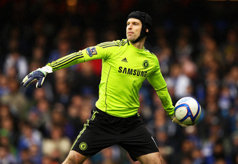 All Cech needs is a helmut and some running backs