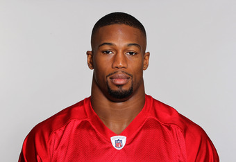 FLOWERY BRANCH, GA - CIRCA 2011: In this handout image provided by the NFL, Ray Edwards of the Atlanta Falcons poses for his NFL headshot circa 2011 in Flowery Branch, Georgia. (Photo by NFL via Getty Images)