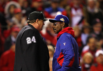 There have not been any postseason ejections in 2011. After Wednesday's game, it stayed that way.