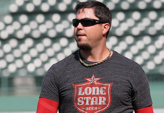 BOSTON, MA - SEPTEMBER 13:  Josh Beckett #19 of the Boston Red Sox, with an ankle injury, walks to the clubhouse after a throwing session before a game against the Toronto Blue Jays at Fenway Park September 13, 2011 in Boston, Massachusetts. (Photo by Jim