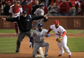 Andrus had several important hustle plays of his own during the Rangers rally